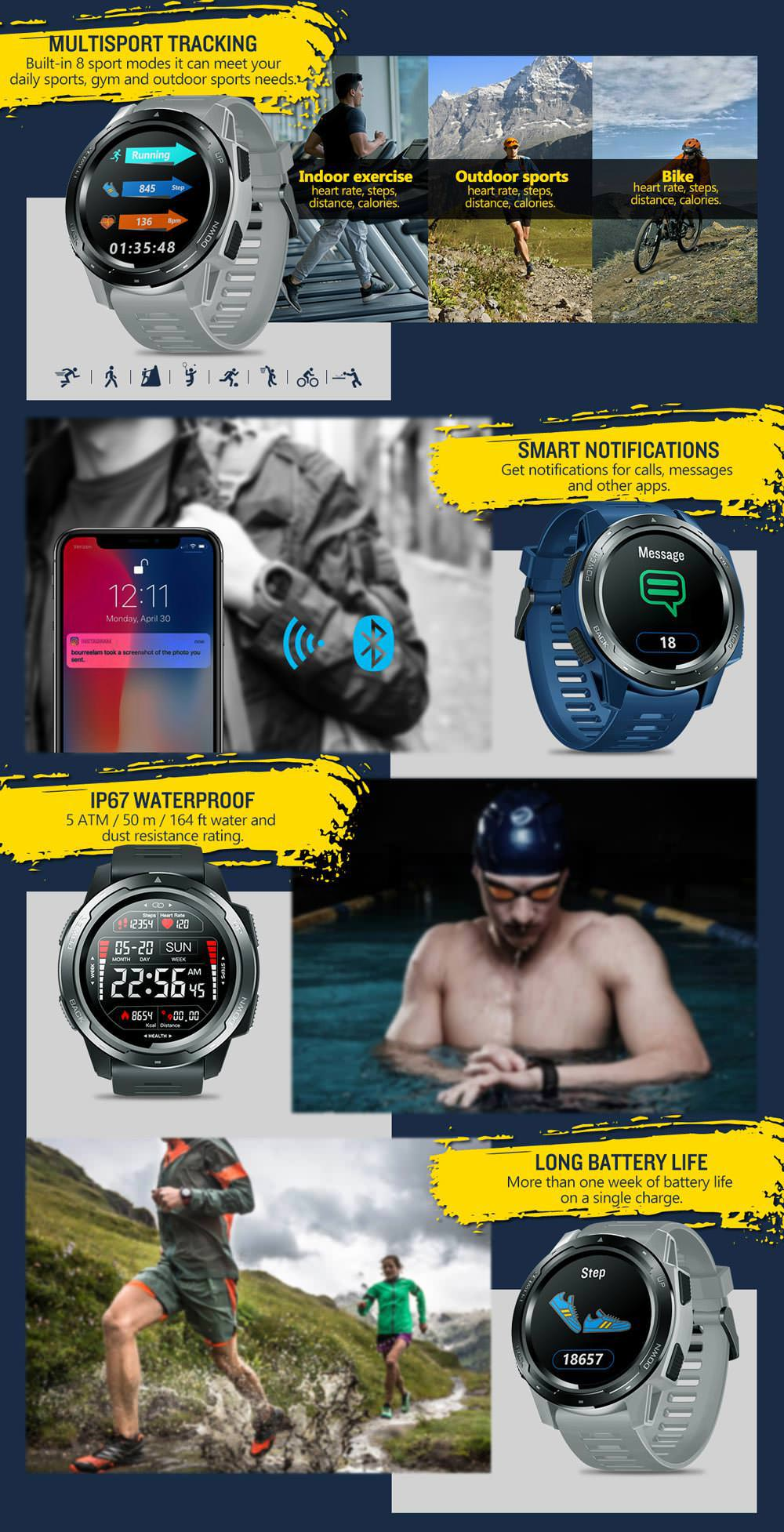 2019 zeblaze vibe 5 bluetooth smartwatch