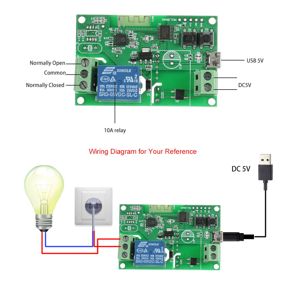 buy eweLink dc5v / usb5v wifi switch module