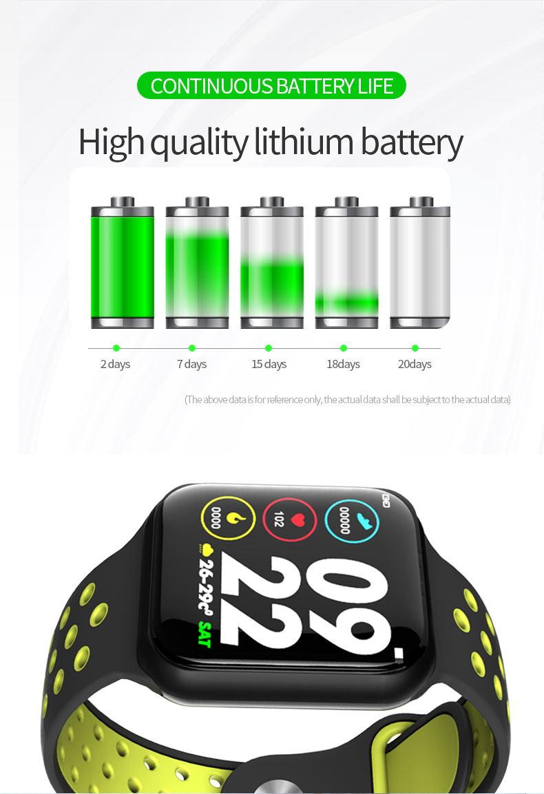 f8 smart watch ip67 waterproof