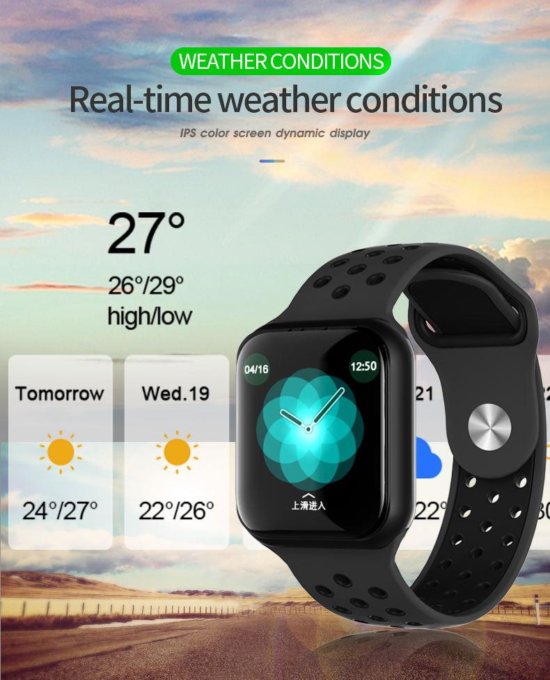 f8 smart watch ip67 waterproof 2019