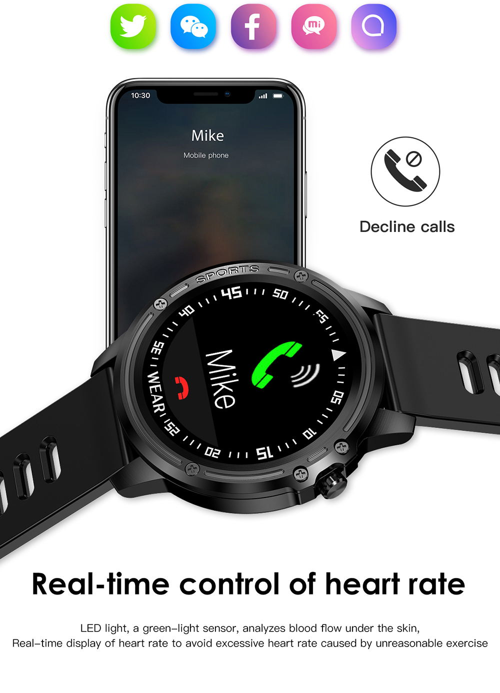 microwear l8 smart watch ip68