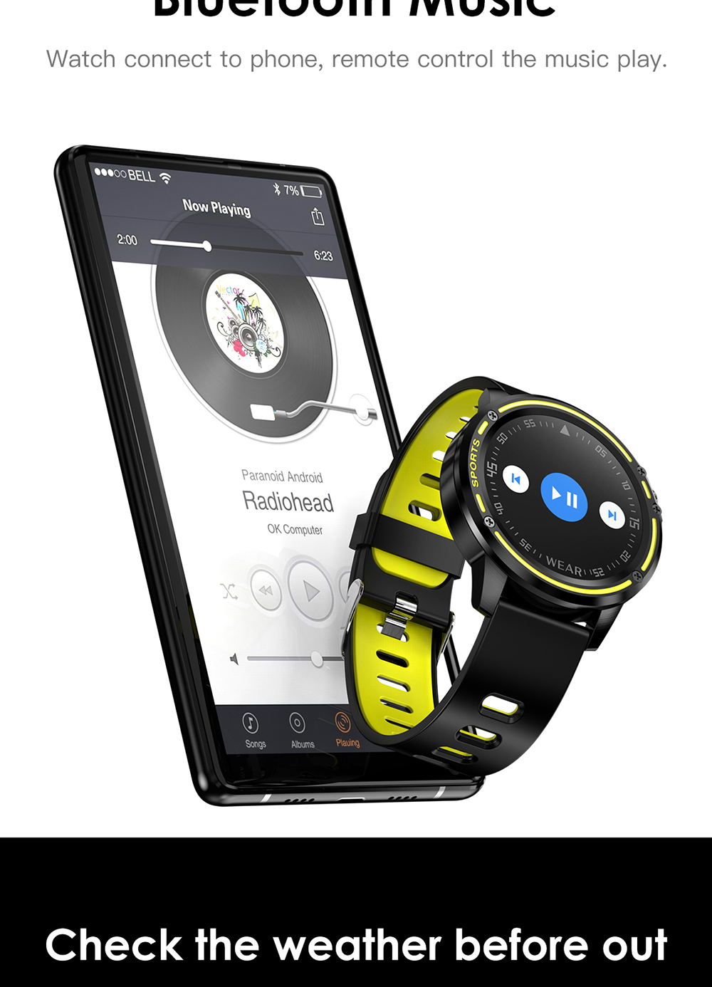 microwear l8 smart watch ip68 2019