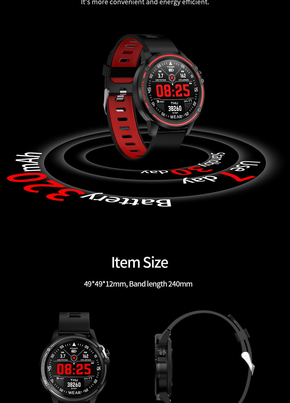 buy microwear l8 smart watch ip68 2019