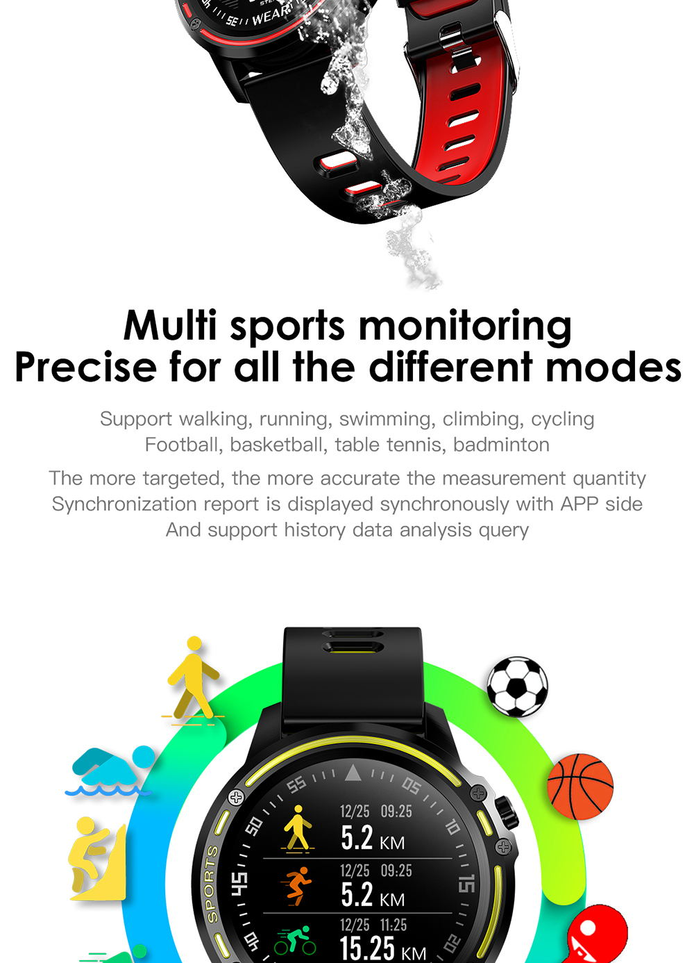 new microwear l8 smart watch
