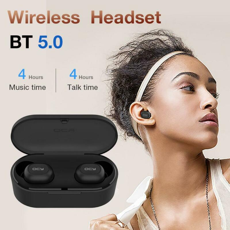 buy qcy t2s tws wireless bluetooth bt5.0 headphones