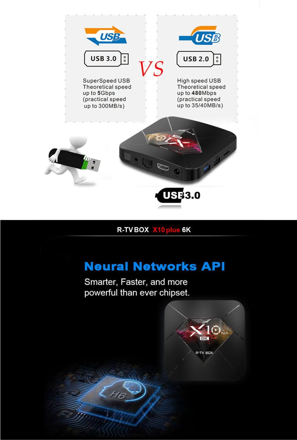 new r-tv box x10 plus tv box 4gb 32gb
