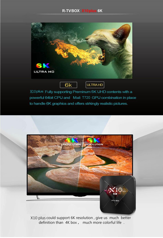 buy r-tv box x10 plus tv box 4gb 32gb
