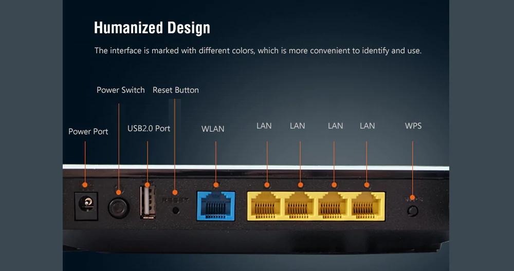 ASUS RT-AC1200GU Dual Band WiFi Router