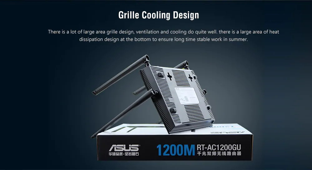 ASUS RT-AC1200GU Dual Band Smart Router