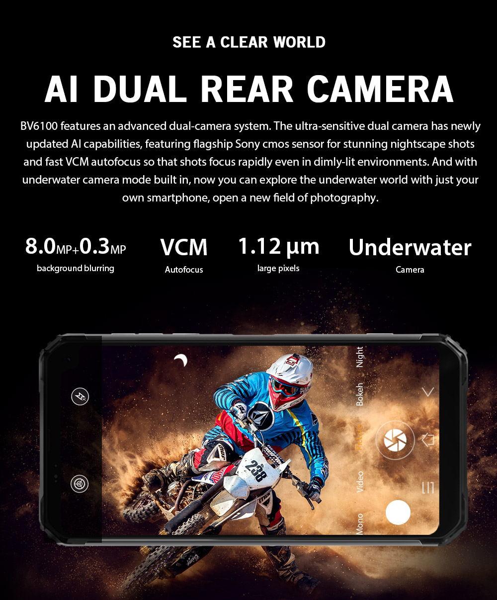 2019 blackview bv6100 4g smartphone 3gb/16gb