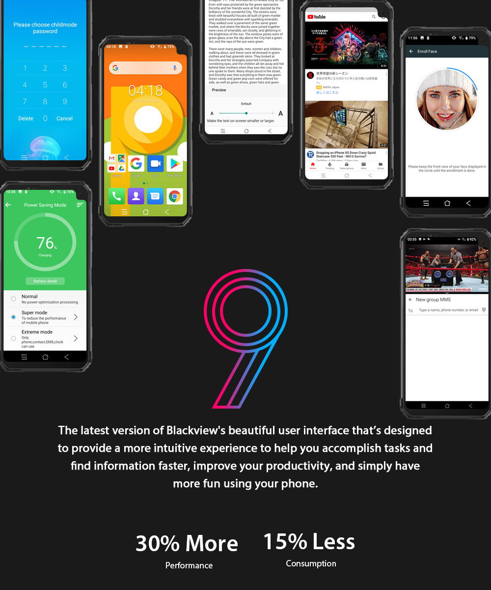 blackview bv6100 smartphone 3gb/16gb