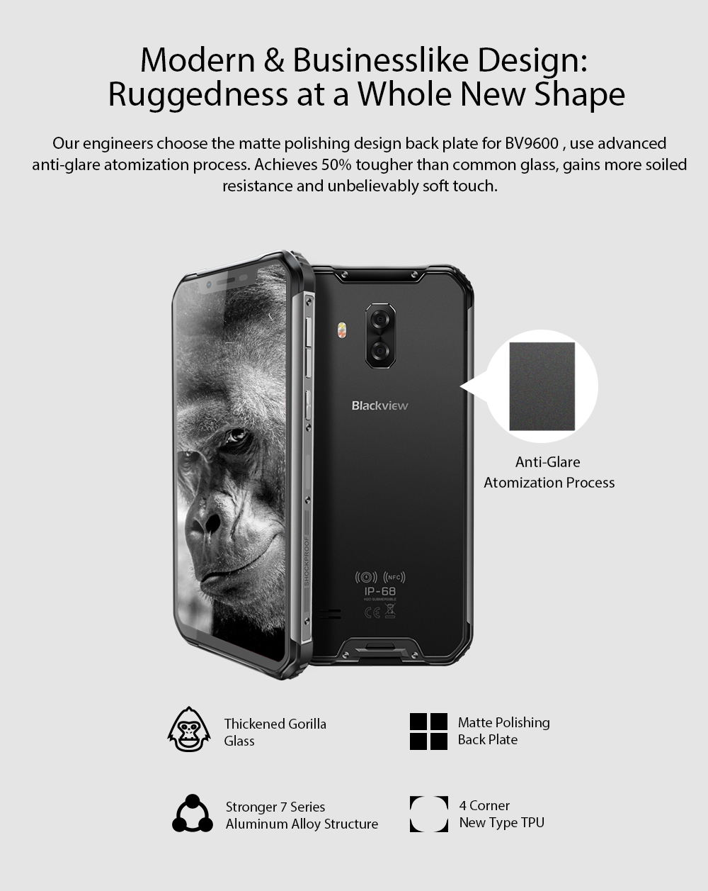 2019 blackview bv9600 smartphone