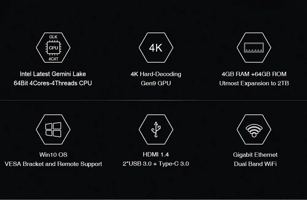 new chuwi gbox pro mini pc 4gb 64gb