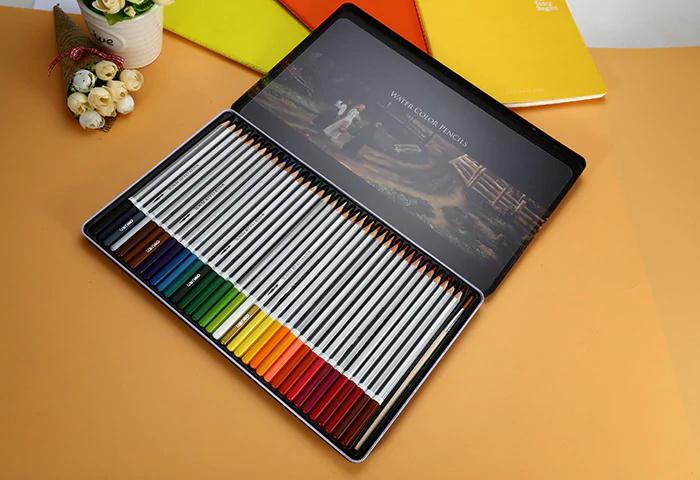 new deli 36pcs water soluble color pencil