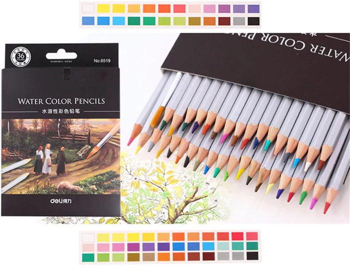buy deli 36pcs water soluble color pencil