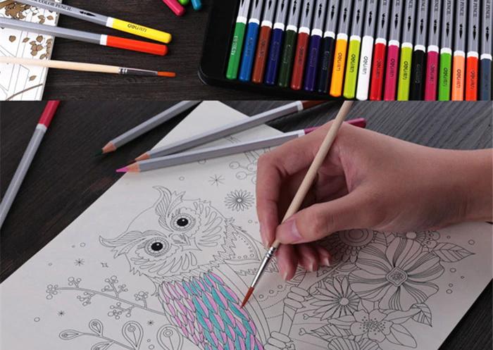 deli 36pcs water soluble color pencil for sale