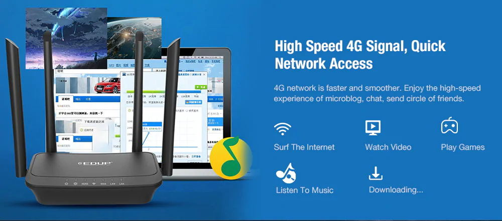 new edup ep-n9522 wireless router