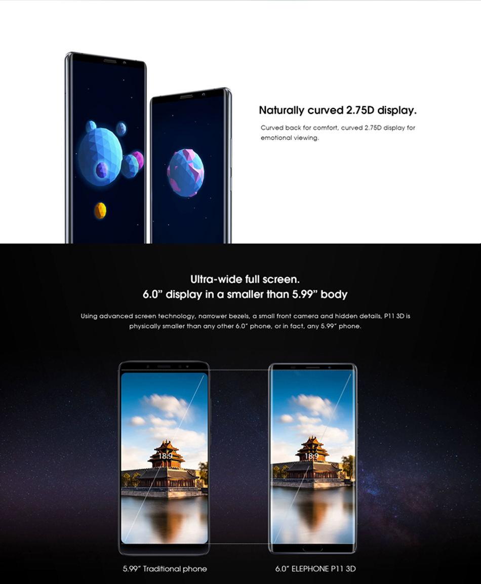 2019 elephone p11 3d smartphone
