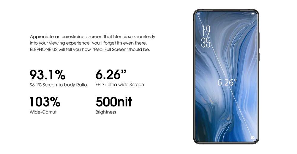 2019 elephone u2 4g smartphone