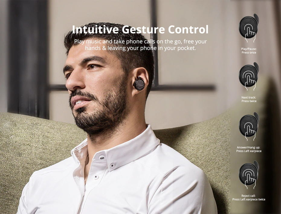 new encore spunky buds bluetooth earbuds