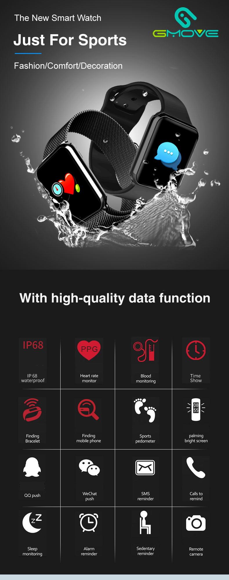 gmove gs08 sports smartwatch