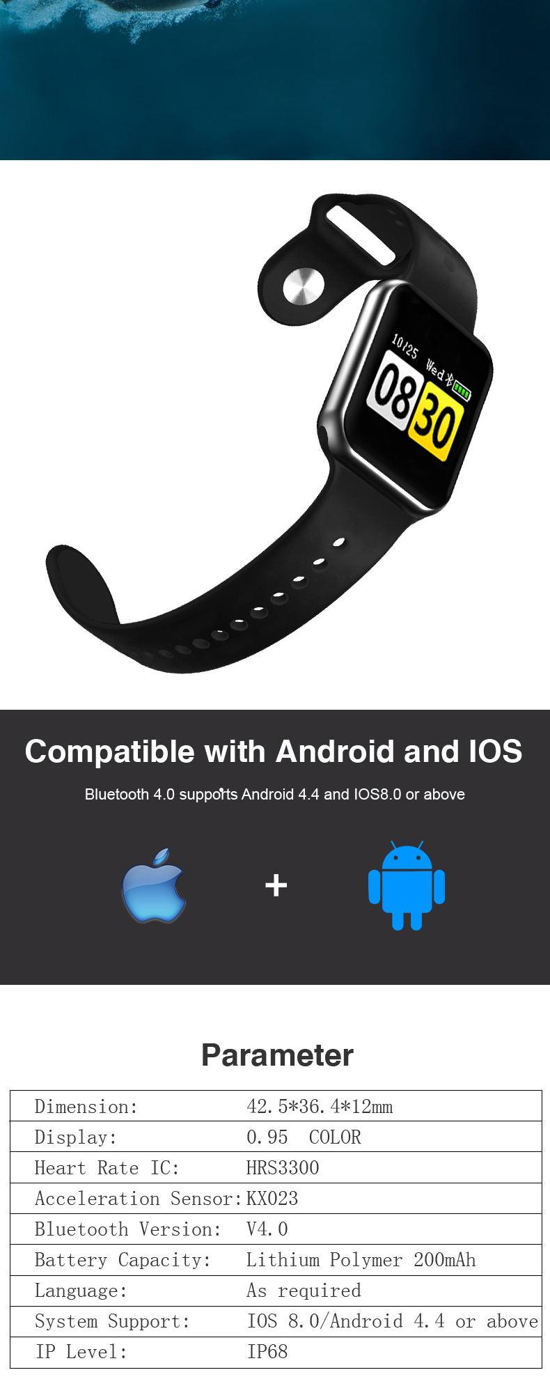 gmove gs08 sports smartwatch online
