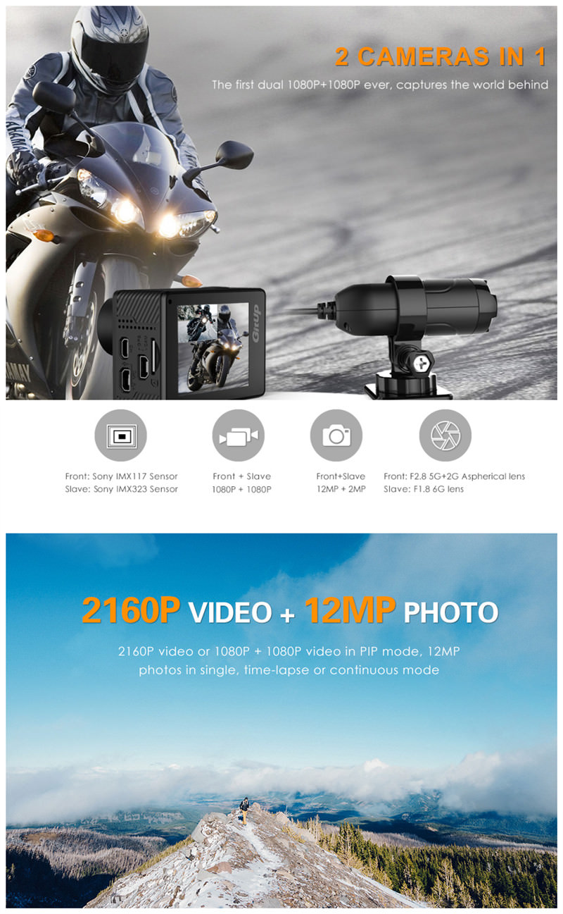 new gitup g3 duo action camera