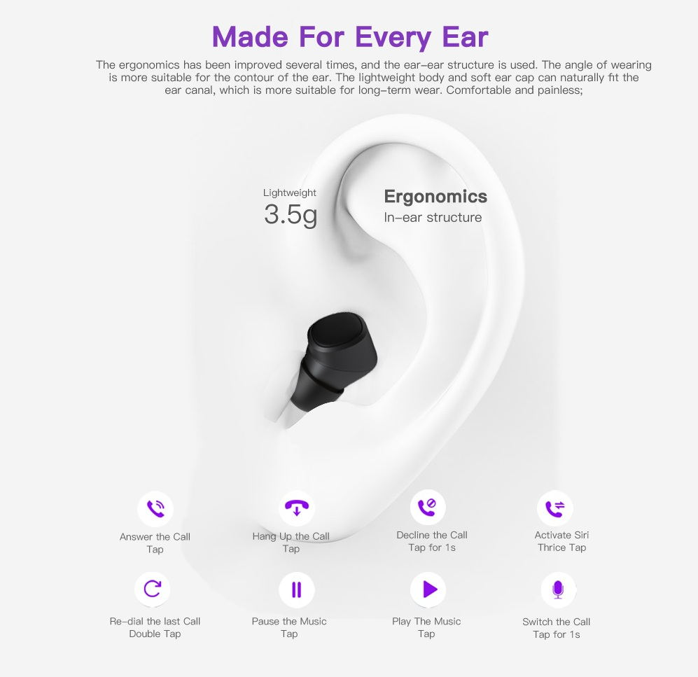 2019 goral t1x bluetooth earphone