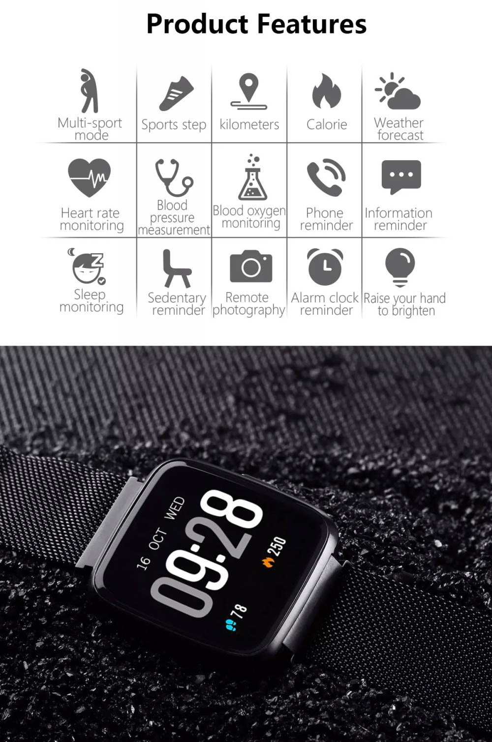 2019 goral y7 sports smartwatch