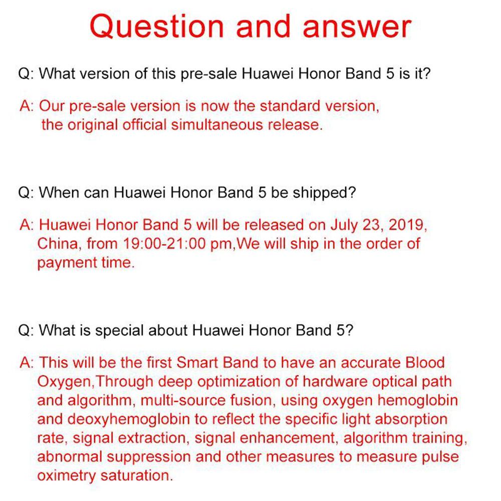 2019 huawei honor band 5 smart bracelet