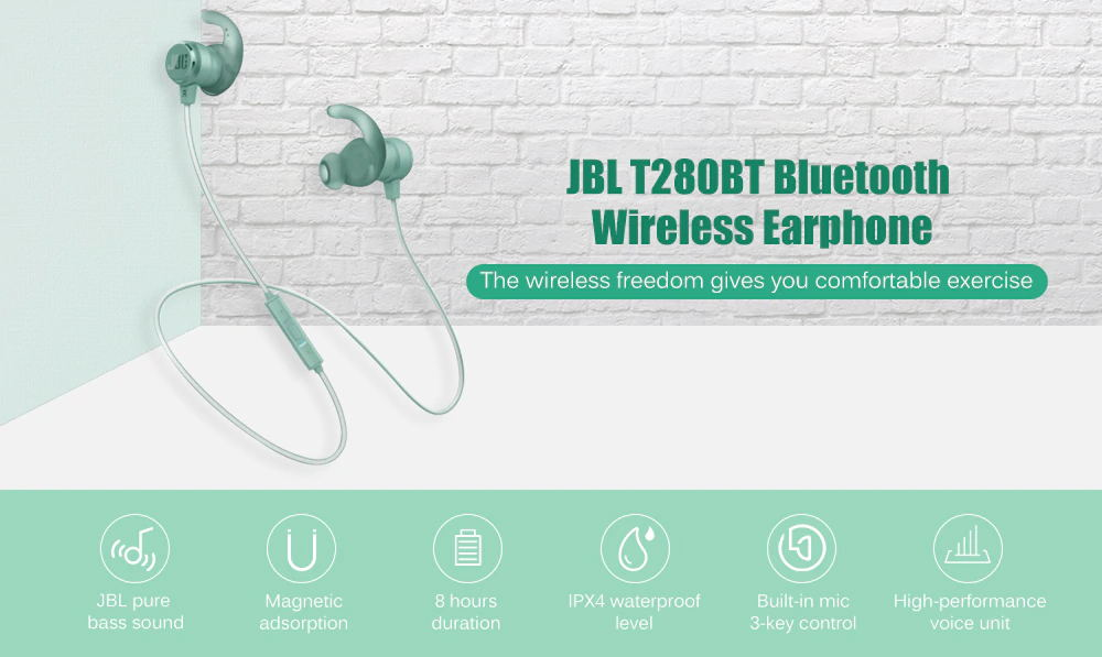 jbl t280bt sport bluetooth wireless earphone
