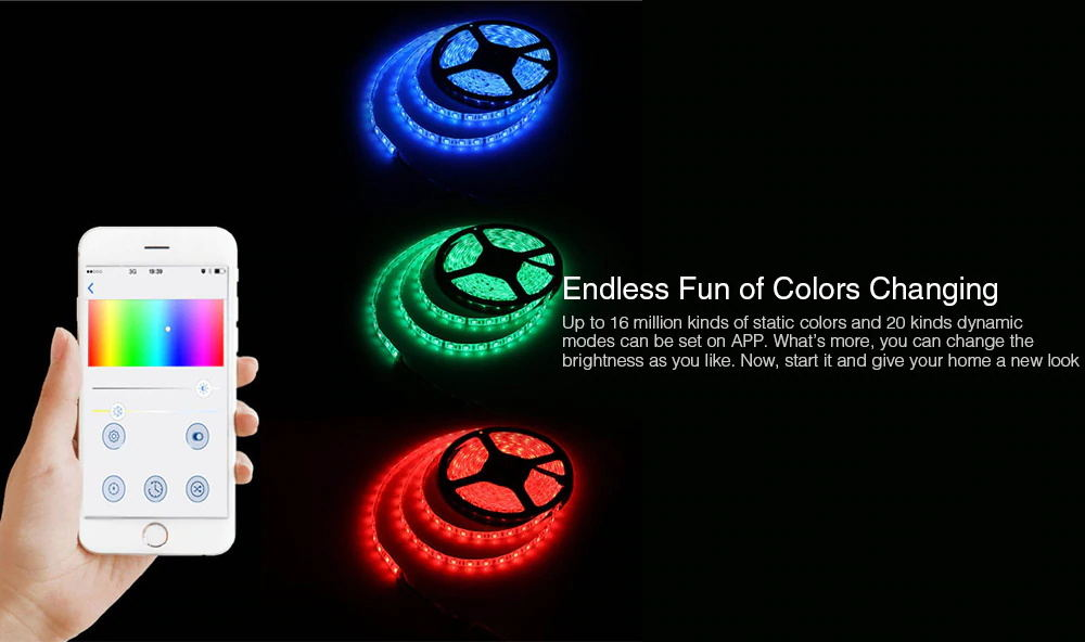 jiawen smart led light strip for sale