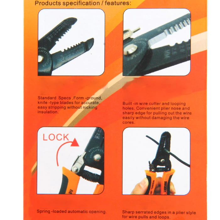 buy jakemy jm-ct4-12 wire stripper cutter