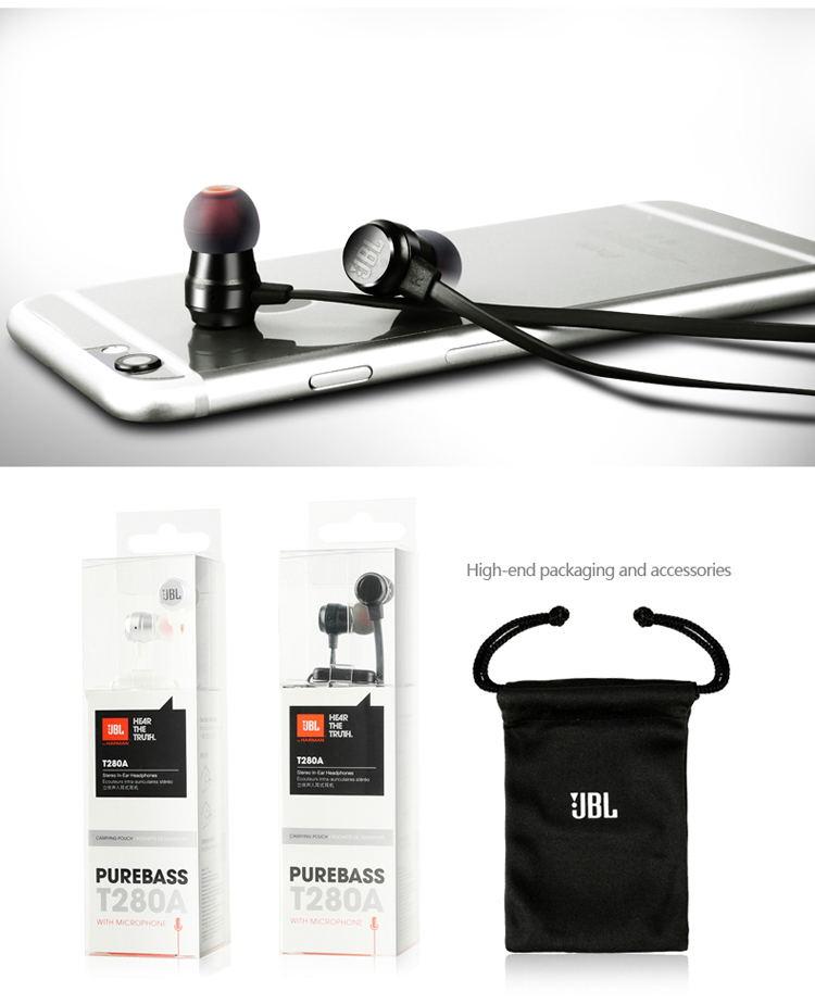 jbl t280a+ stereo earphones price