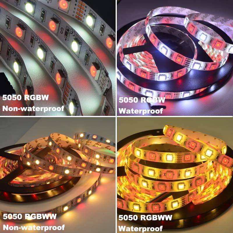 new jiawen 5m 5050 rgbw led strip lights set