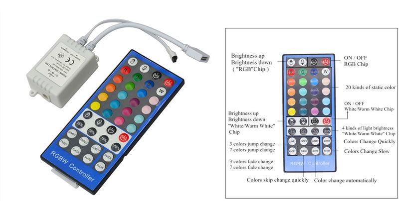 buy jiawen 5m 5050 rgbw light strip set