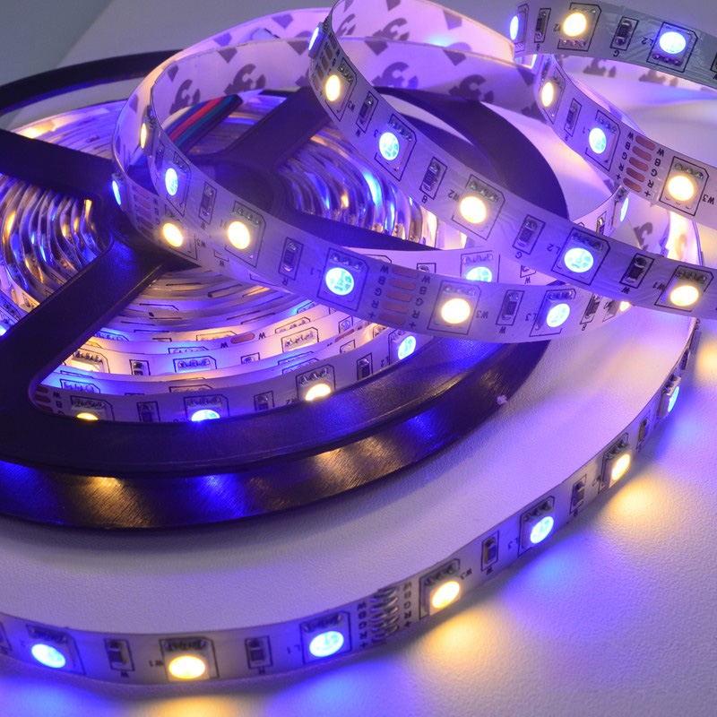 jiawen 5m 5050 rgbw light strip set for sale