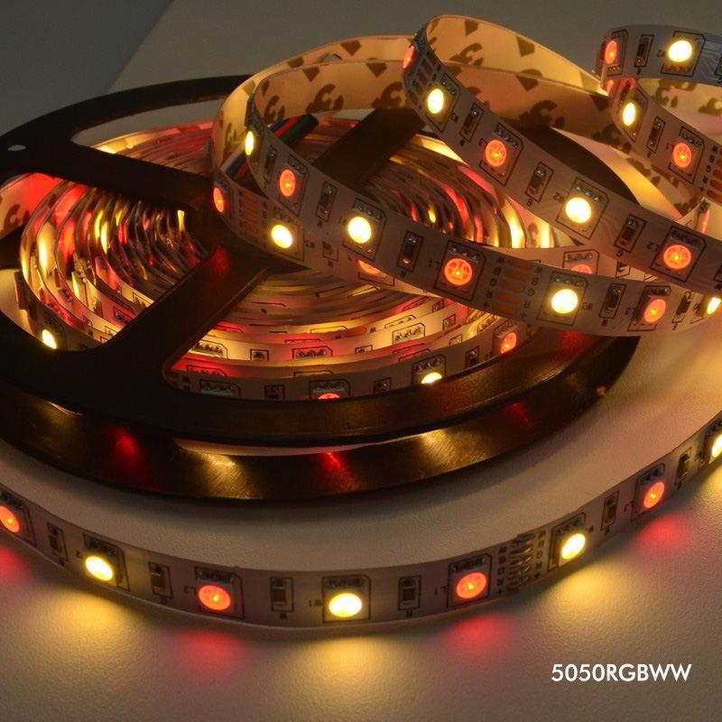 new jiawen 5m 5050 rgbw light strip set