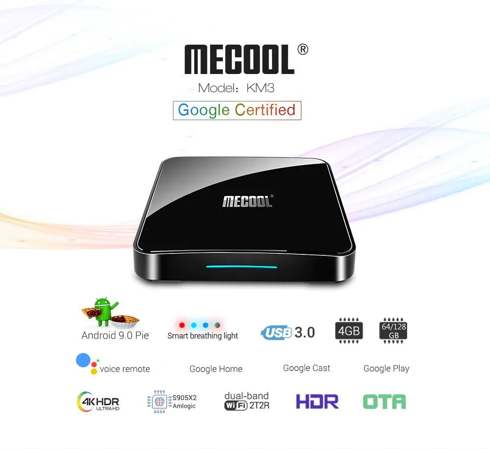 mecool km3 4gb 128gb tv box