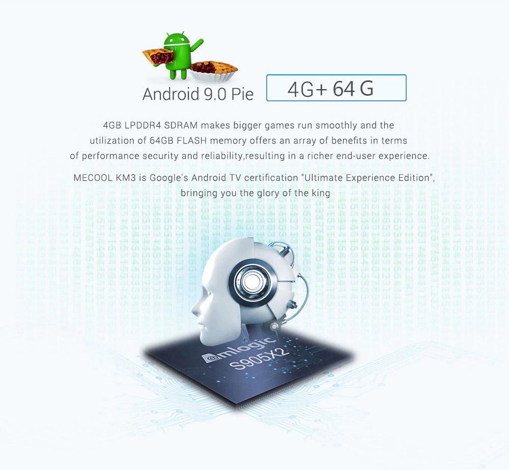 new mecool km3 4gb 64gb tv box
