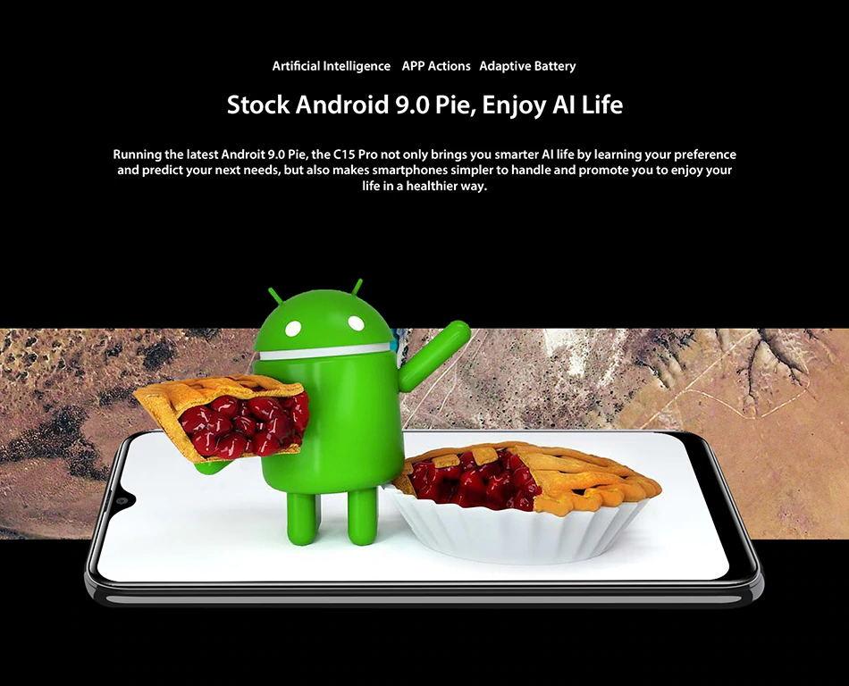 oukitel c15 pro 4g smartphone 3gb/32gb