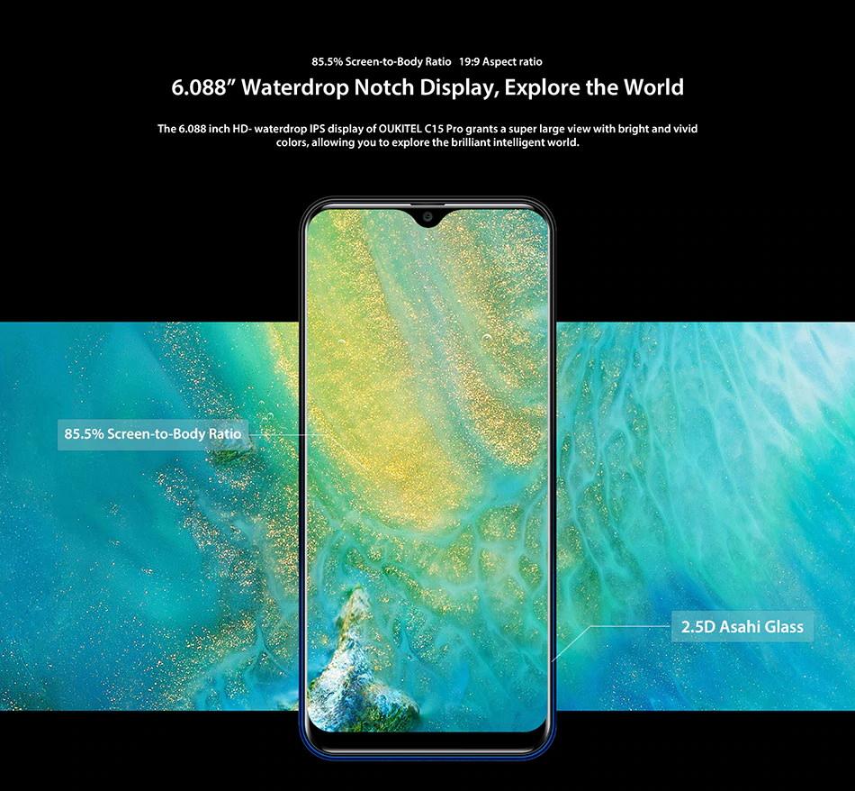 new oukitel c15 pro smartphone 3gb/32gb