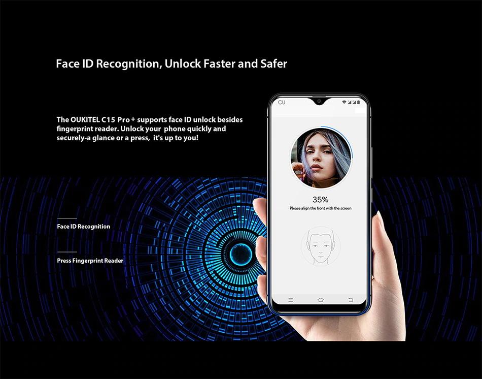 oukitel c15 pro smartphone online 3gb/32gb