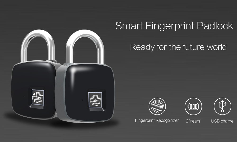 p3 smart fingerprint door lock padlock