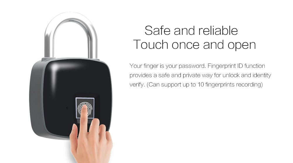 buy p3 smart fingerprint door lock padlock