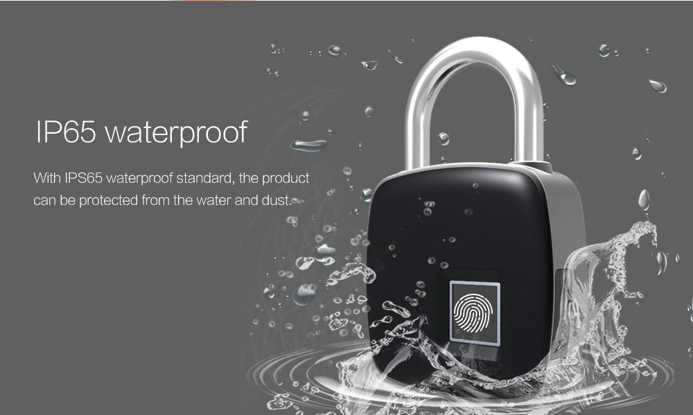 p3 smart fingerprint door lock padlock for sale