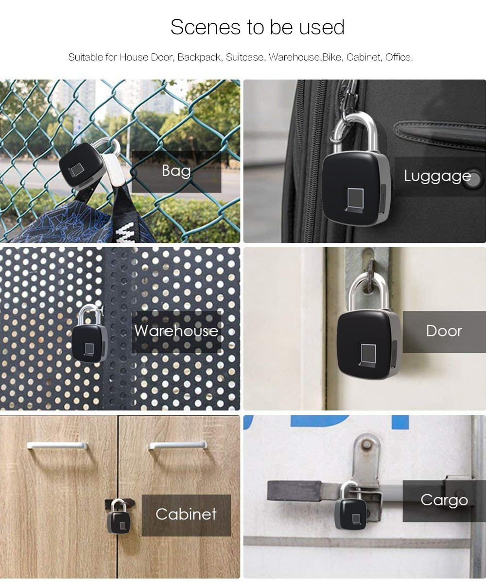 p3 smart fingerprint padlock