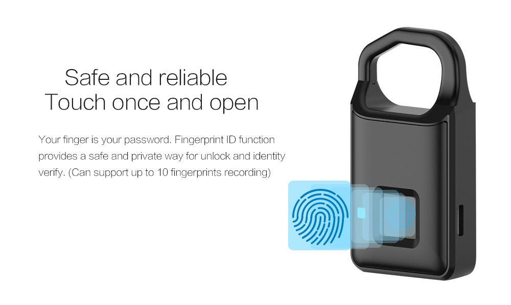 p4 fingerprint padlock