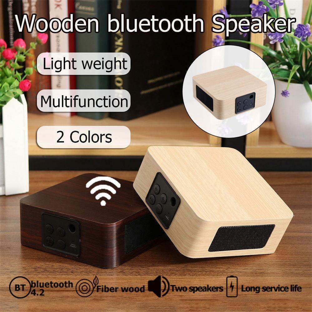 q1a wooden wireless bluetooth speaker