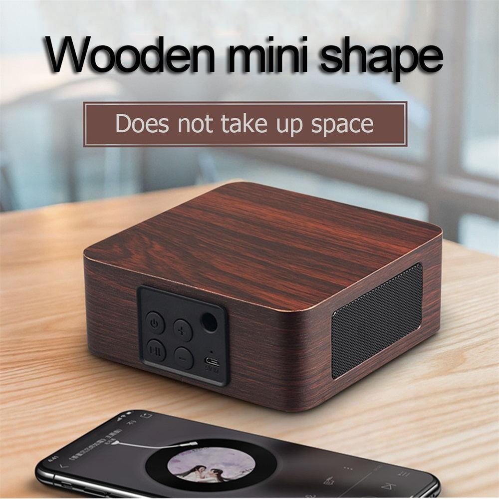 q1a wooden bluetooth speaker